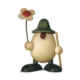 Eierkopf Rudi mit Blume und...