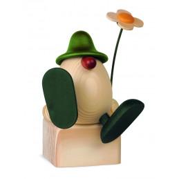 Eierkopf Alfons mit Blume...