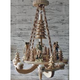 Hängepyramide Waldmotiv - mit Jahresring